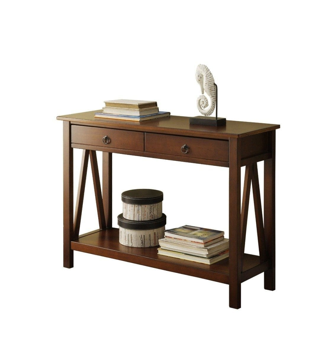 Linon Home Decor Titian Antique Console Table