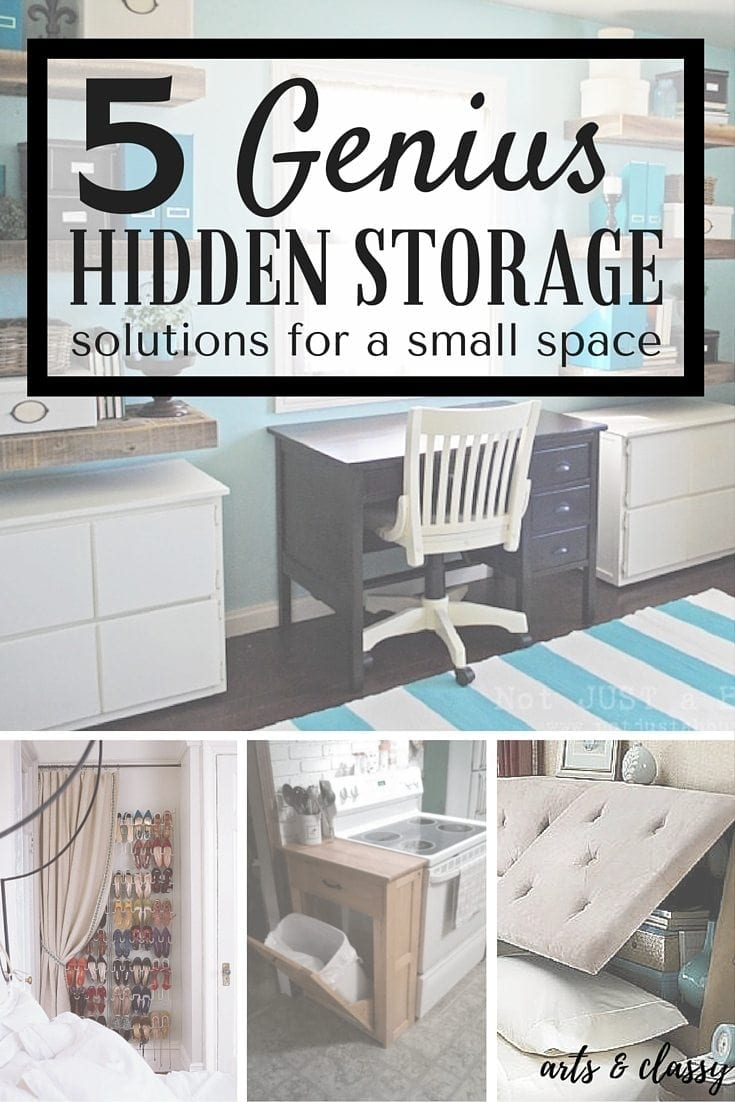 5 Genius Hidden Storage Solutions for a Small Space