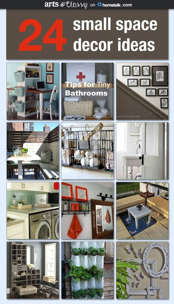 24 helpful small space decor ideas to take into consideration  when trying to make the most of your space. Check out more details at www.artsandclassy.com