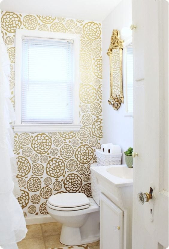 DIY Projects To Make Your Rental Home Look More Expensive-decal wallpaper
