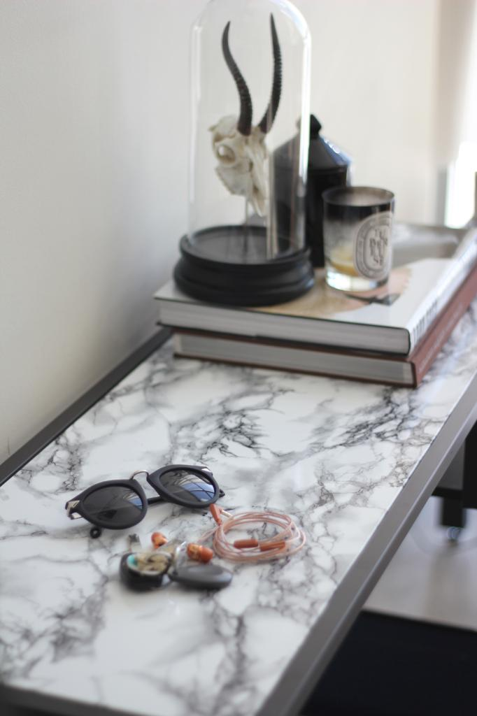 DIY Projects To Make Your Rental Home Look More Expensive-marble table