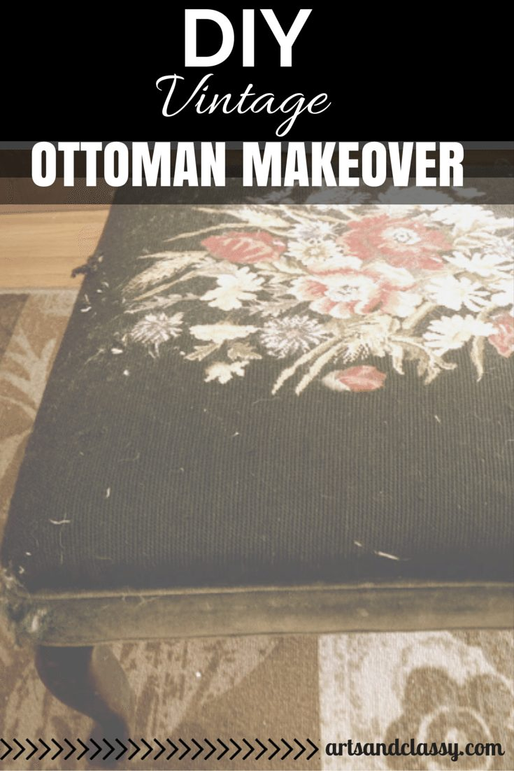 DIY Vintage Ottoman Makeover-feature image