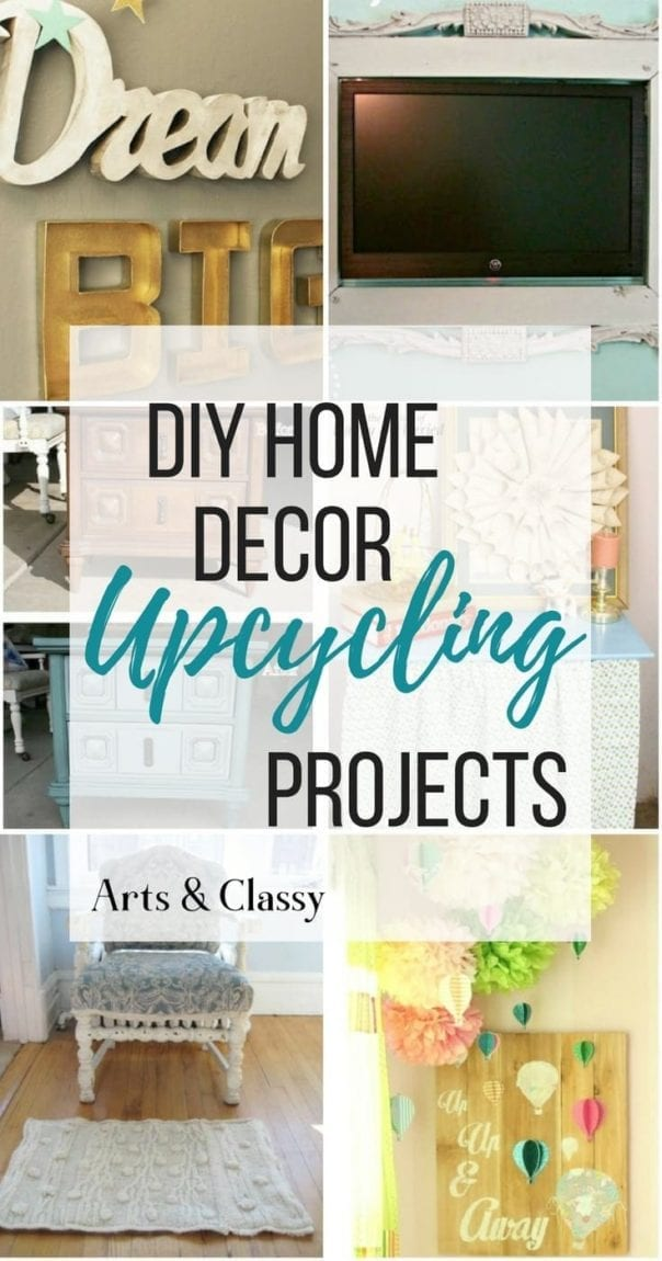 10 diy upcycling home decor projects repurposed inspiration arts and classy. Black Bedroom Furniture Sets. Home Design Ideas