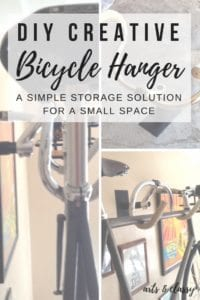 DIY Creative Bicycle Hanger Simple Storage Solution