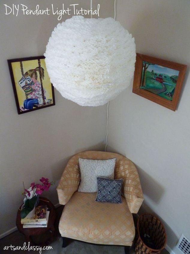 Part 2 my parents room makeover diy ceiling light for Diy bedroom lamp