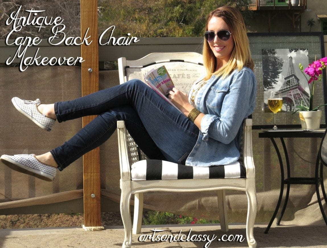 Cane_Back_Chair_Vintage_Makeover_Yard_Sale_Find_Arts and Classy_Blog_02