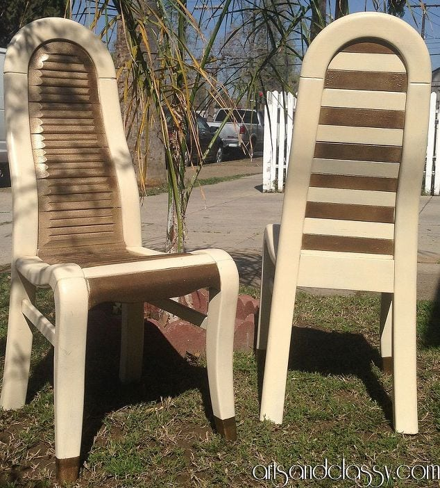DIY Tutorial - Mod Wood Chairs Makeover-3