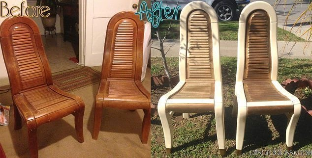 DIY Tutorial - Mod Wood Chairs Makeover