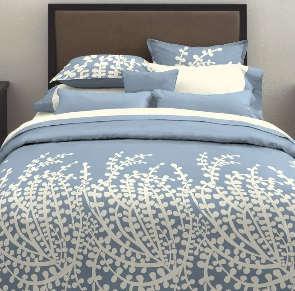 City Scene, Branches Collection, French Blue Duvet Set