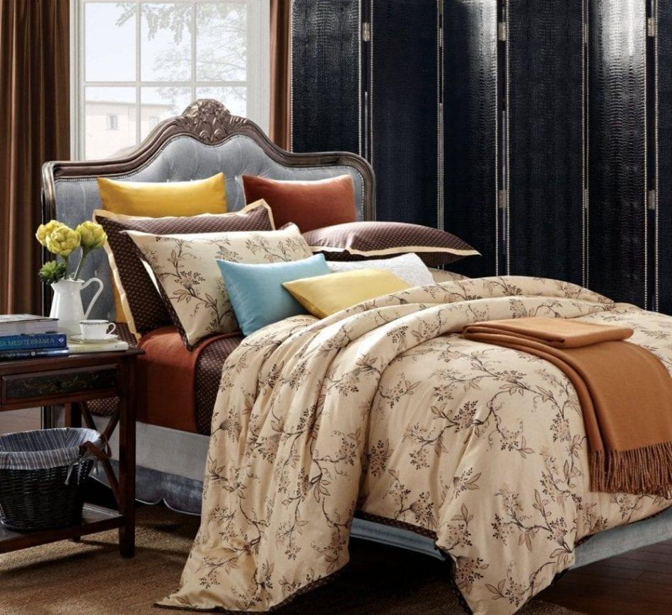 Ever Rouge Asian Garden 300 Thread Count 100-Percent Cotton 7-Piece Duvet Set