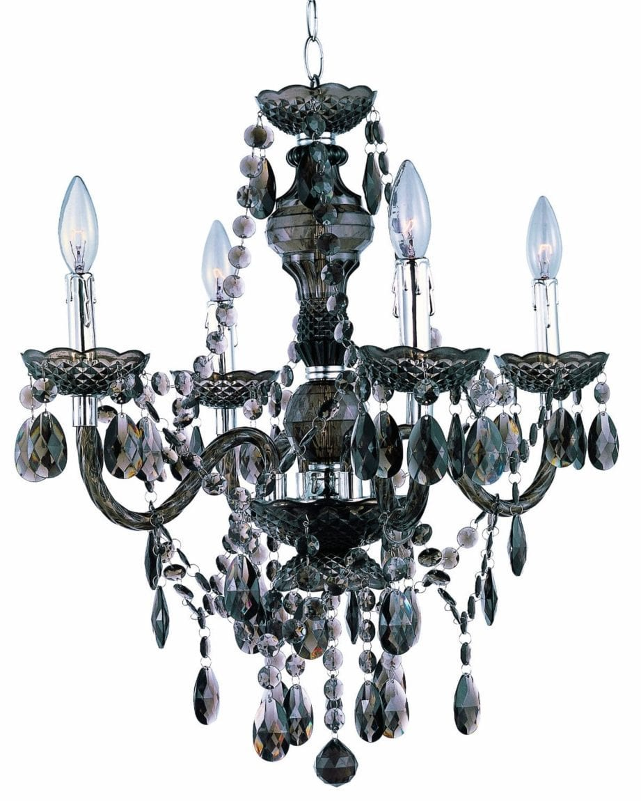 Park_Madison_4-Light _Smoked_Acrylic_Chandelier_Ceiling_Fixture_with_Acrylic_Prisms_Chrome_Accents_Lighting_Arts_and_Classy_blog