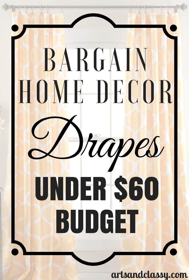 Bargain Home Decor Drapes Under 60 Budget
