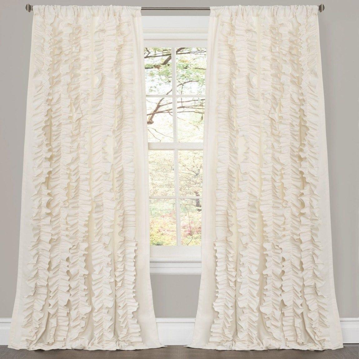 Lush Decor Belle Window Curtain, Ivory