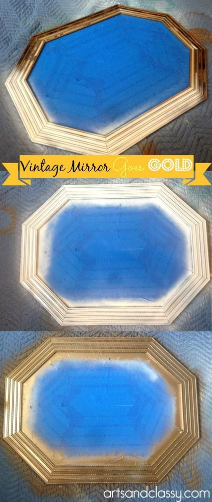 do-it-yourself-gold-octagon-mirror-revamp-home-decor-living-room-ideas-wall-decor
