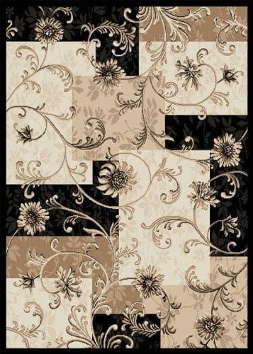 Home Dynamix Optimum 11025 Black 92-Inch-by-124-Inch Traditional Area Rug