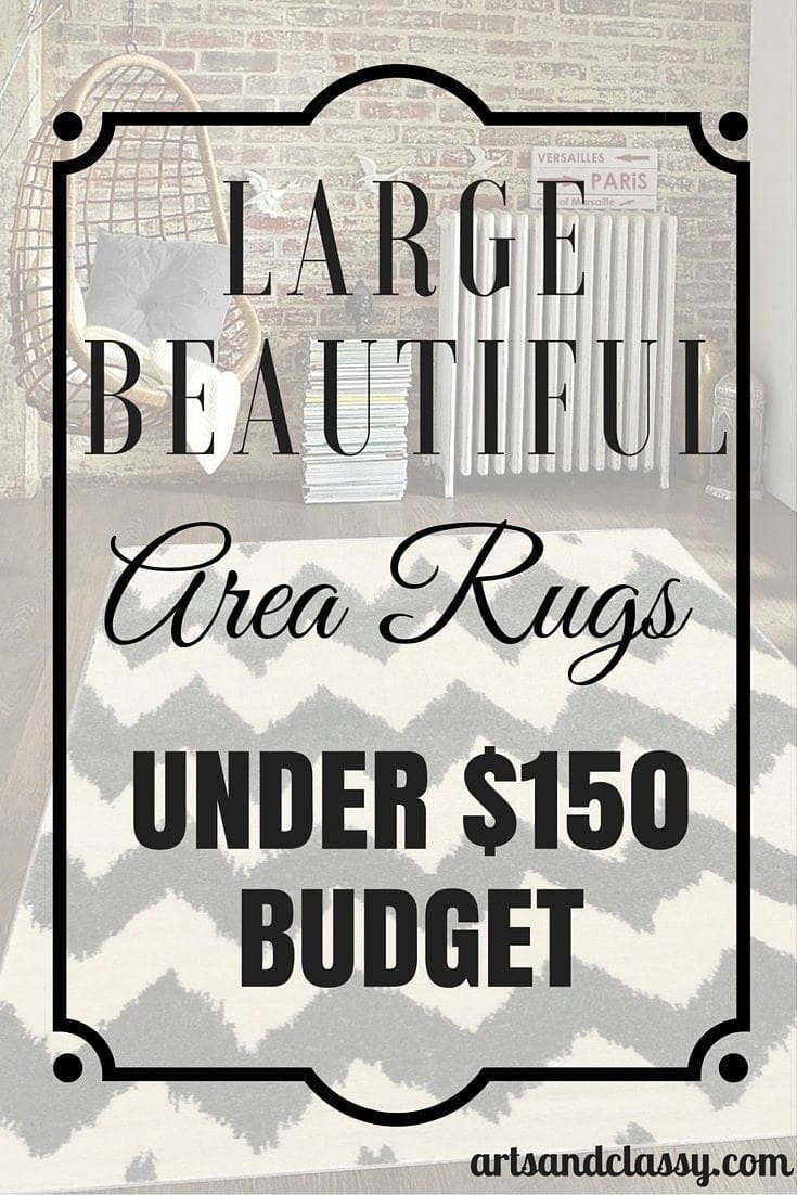 Large Beautiful Area Rugs Under $150 Budget. You don't have to spend a lot to get a decent quality. This is especially true for renters!