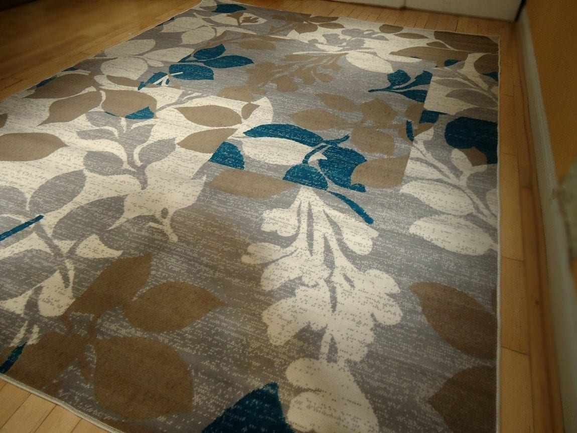 Large Multicolor Modern Area Rug 8x11 Rug Blue Carpet Living Room Rug 8x10 Beige Rug Cream Rugs Multicolors Floral Rug (Large 8x11)