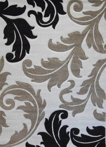 Modern Area Rug Design # H 288 Ivory (5 Feet 2 Inch X 7 Feet 1 Inch)