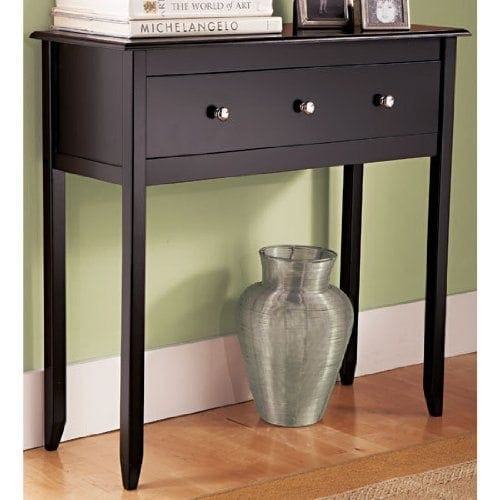 Black Espresso Contemporary Console Table Furniture