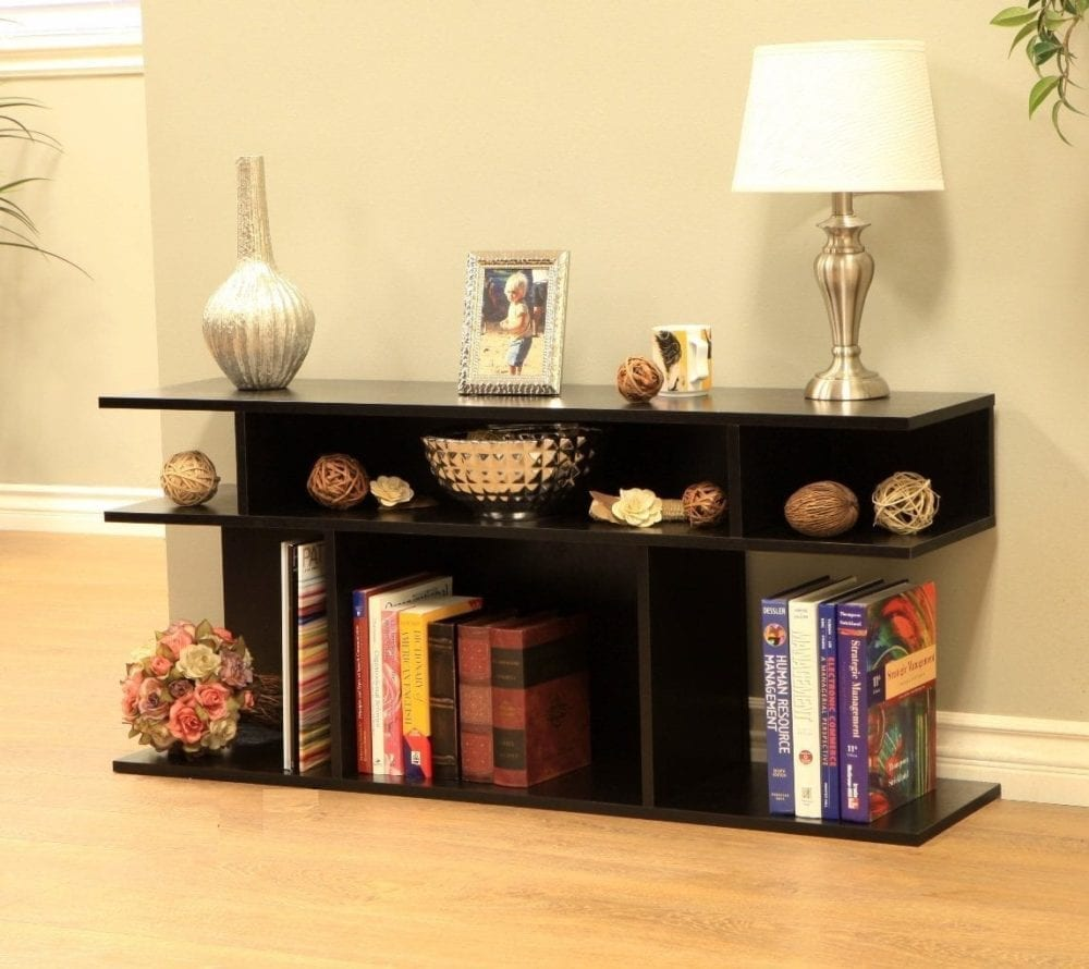 Frenchi Home Furnishing Wood:Console Sofa Table, Black