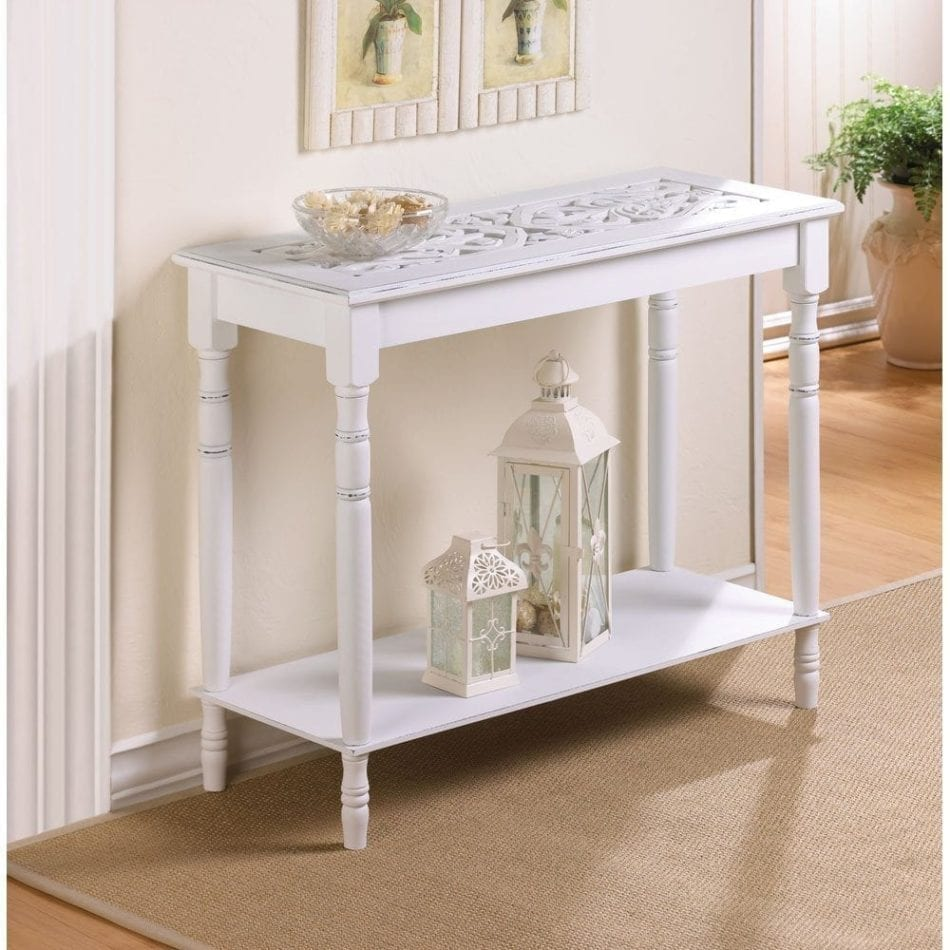 White Hallway Console Table beautiful console tables under $100 | arts and classy