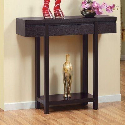 Logan Console : Sofa Table in Red Cocoa