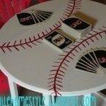 DIY Baseball Side Table Makeover