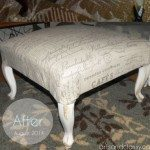 Diy Upholstered Ottoman Vintage Home Decor Furniture Makeover