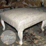Diy Upholstered Ottoman Vintage Home Decor Furniture Makeover