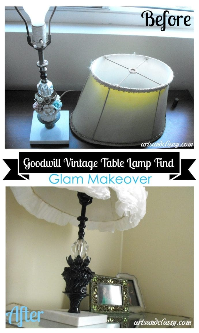 Goodwill Find Vintage Table Lamp Makeover