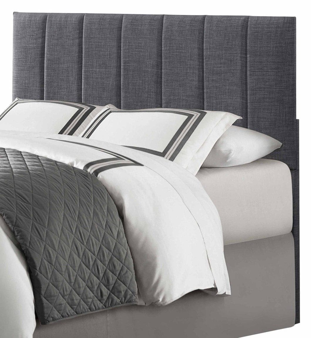 Homelegance 2024-1HB Queen:Full Size Headboard, Grey Linen-Like Fabric