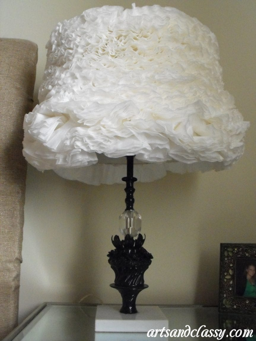 Vintage Flower Table Lamp Goodwill Find Tutorial 18