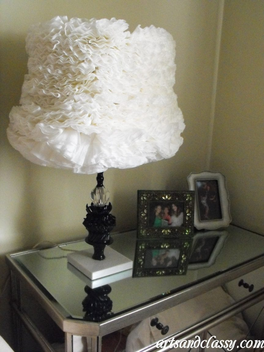 Vintage Flower Table Lamp Goodwill Find Tutorial 22