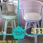 Goodwill Find Rattan Stool Makeover