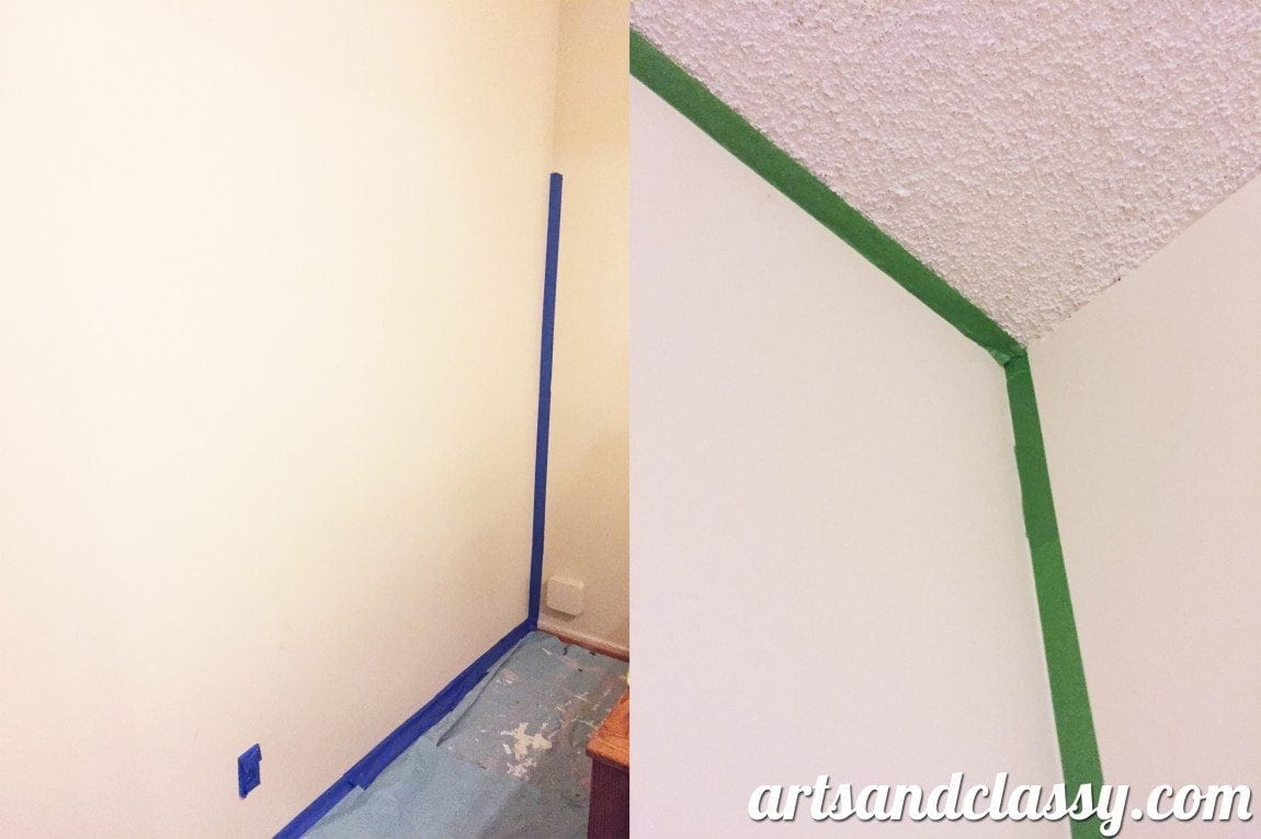 DIY Moroccan Accent Wall Before Photos. See the transformation