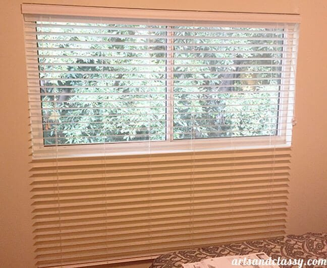 Makeover Edition _ Vintage Glam Bedroom with Levelor Blinds Window Dressing at www.artandclassy.com