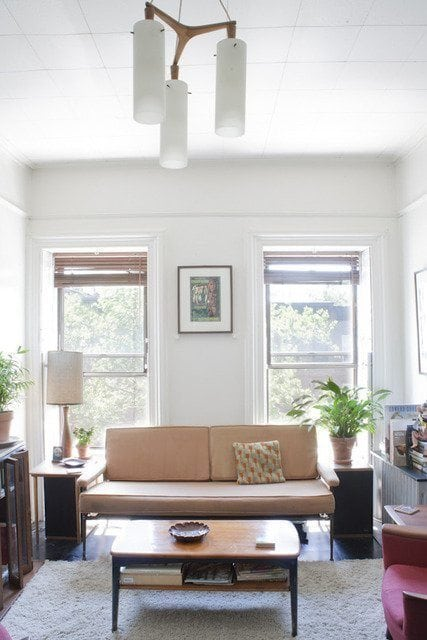 Smaller furniture is great for a smaller apartment space becasue it takes up less of a footprint in the room and is easier to move.