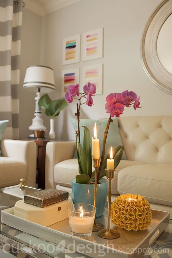 Staged vignettes in a home will look much cleaner and clutter free giving the space a much larger look.