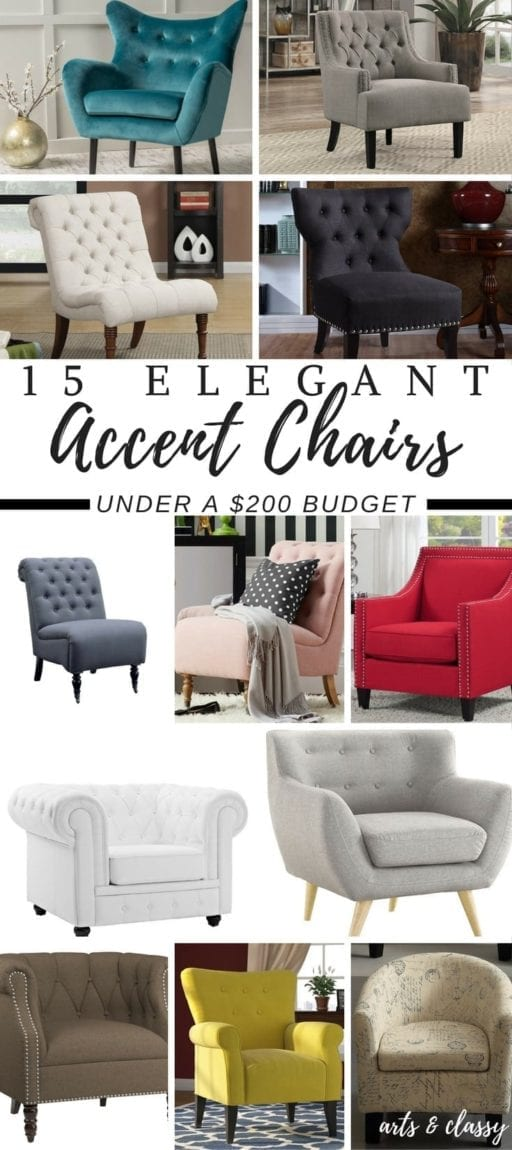 15 Elegant Accent Chairs On A BudgetArts and Classy