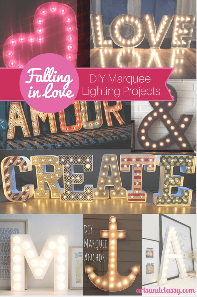 Falling In Love With Marquee Lights 3D Letters Arts And Classy
