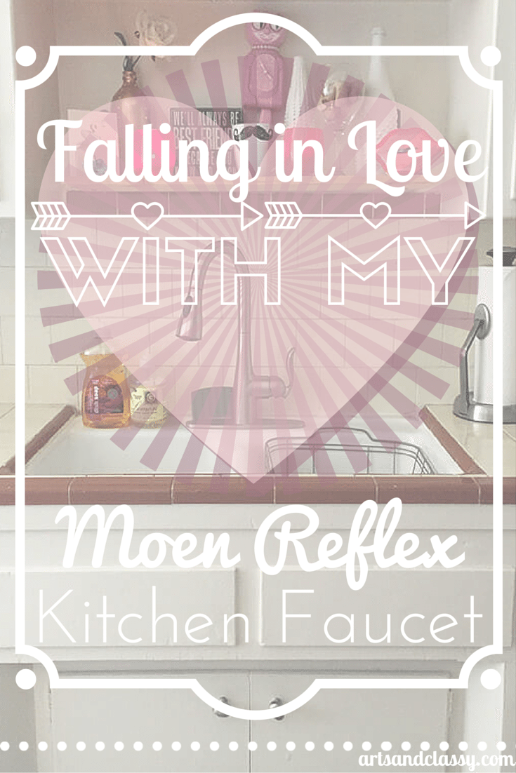 Falling in love with my Moen kitchen faucet at www.artsandclassy.com