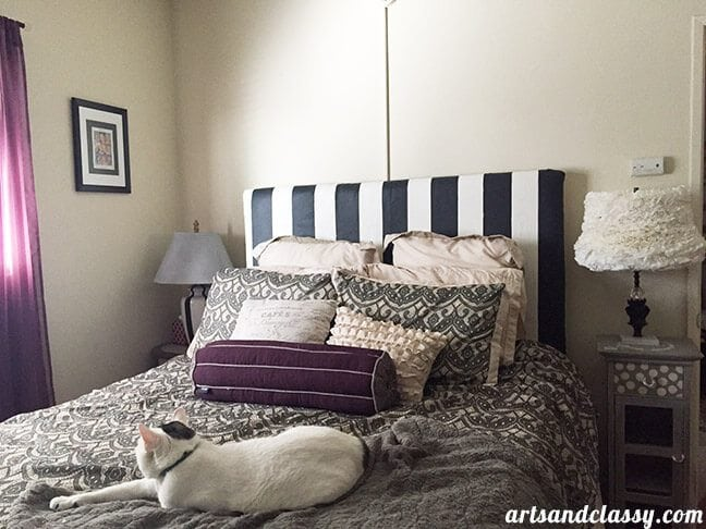Makeover Edition - January Challenge Results. My bedroom gets a Vintage Glam makeover on a dime! A little diy home decorating works for wany budget. www.artsandclassy.com