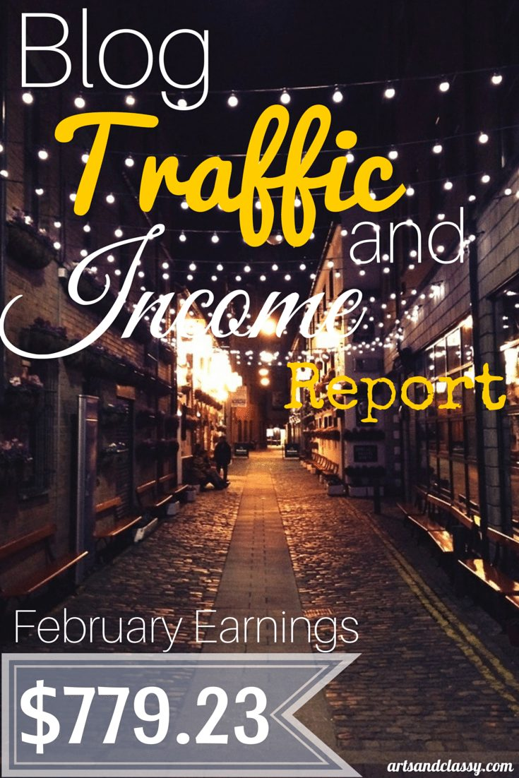 Blog Traffic and Income Report for February 2015 via www.artsandclassy.com