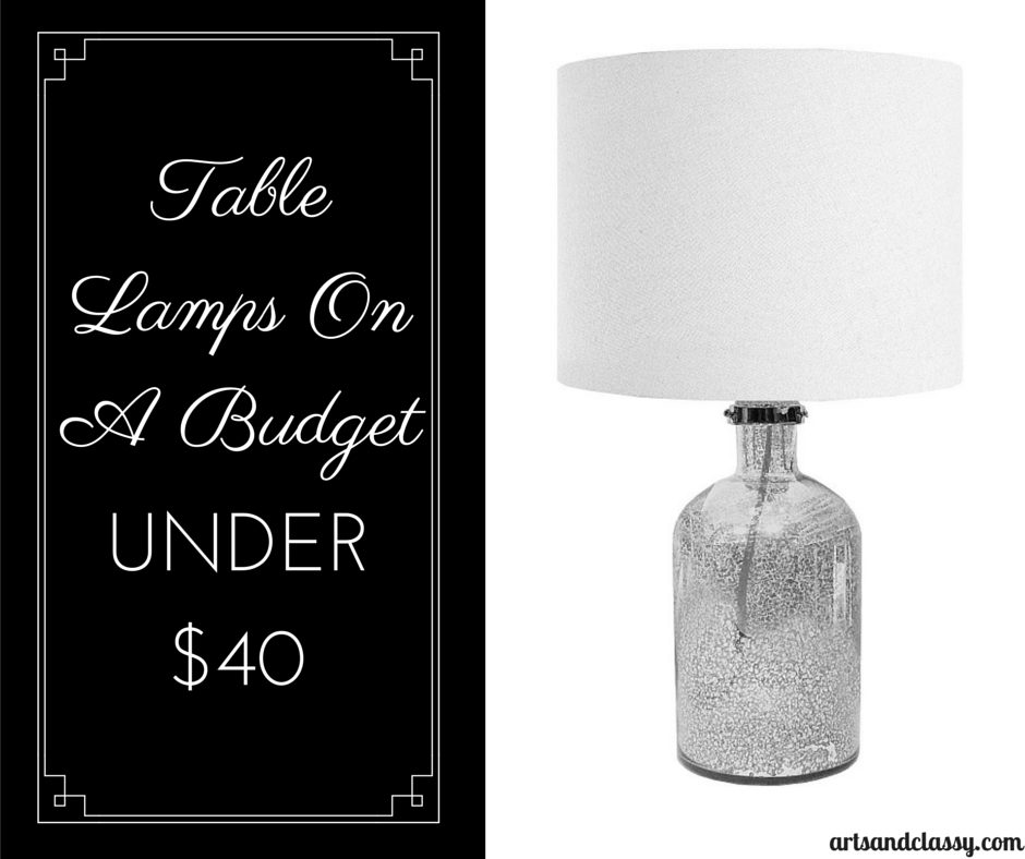 Urban Shop Mercury Table Lamp Under $40 via www.artsandclassy.com