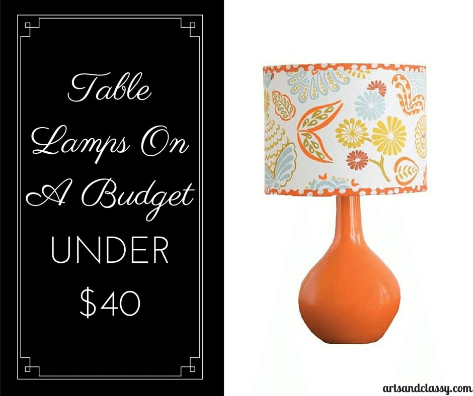 CoCaLo Sydney Table Lamp Base and Shade under $40 via www.artsandclassy.com