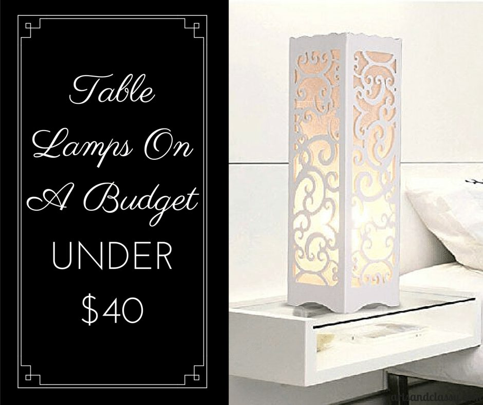Daily Decorative Table Lamp Vintage Style Brief Modern Lampshade Under $40 via www.artsandclassy.com