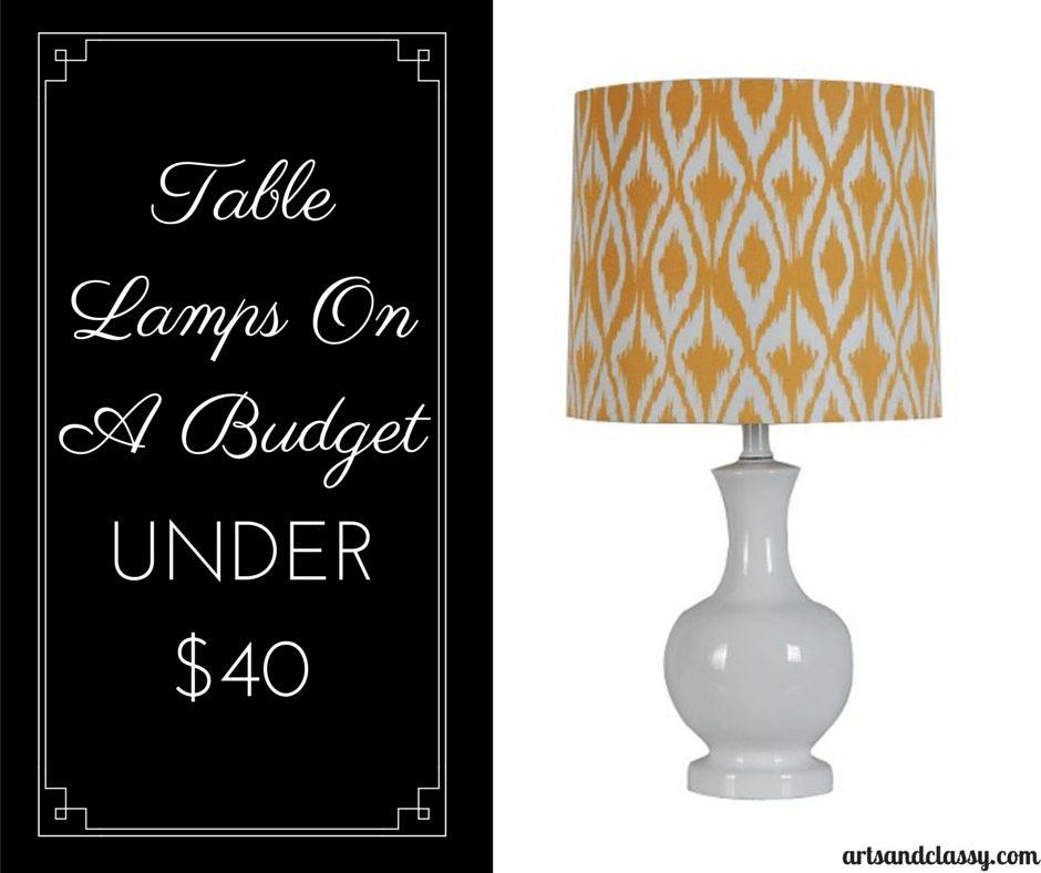Threshold™ Ceramic Diamond Ikat Table Lamp under $40 via www.artsandclassy.com