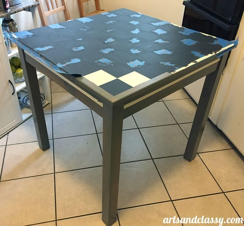 DIY Makeover : French Country Yard Sale Kitchen Table find! Only $30 and I made it over for FREE! Learn how I did it at www.artsandclassy.com