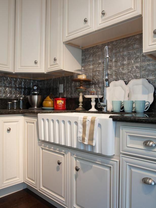 Tin Tile Backsplash for my kitchen