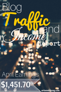 Blog Traffic and Income Report : How I made $1,451.70 in the month of March with my blog www.artsandclassy.com